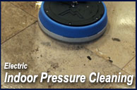 Indoor electric pressure cleaning