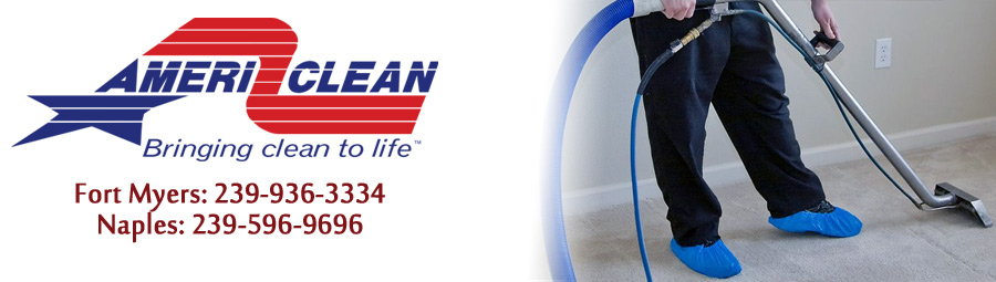 Call for Southwest Florida's first 2 step carpet cleaning company, AmeriClean